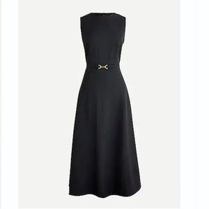 😍 NEW J. Crew A-line Midi Dress Italian Wool 4